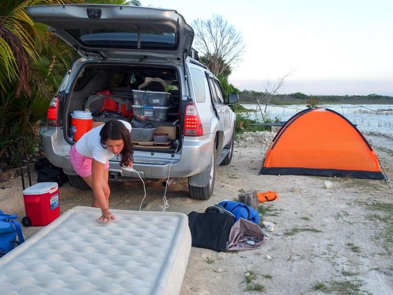 Camping in Guatemala