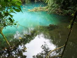 A few other rivers connected with Rio Celeste, showing the difference between regular river water.