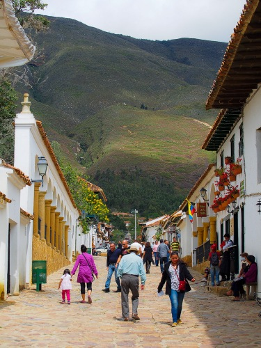 Villa de Leyva sits below some incredible green hills. We managed to find some windy dirt roads that led to the top.