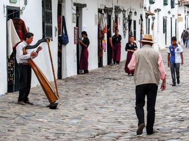 Busy streets of Villa de Leyva