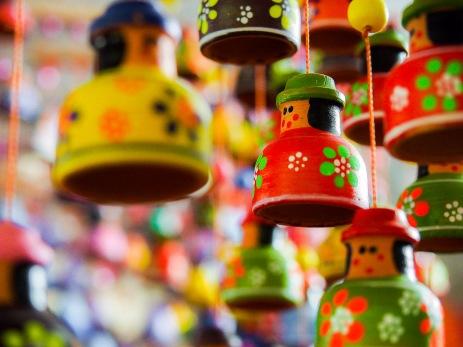 Ornaments for sale in Raquira