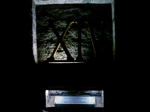 The stations of the cross in the Zipaquira salt cathedral