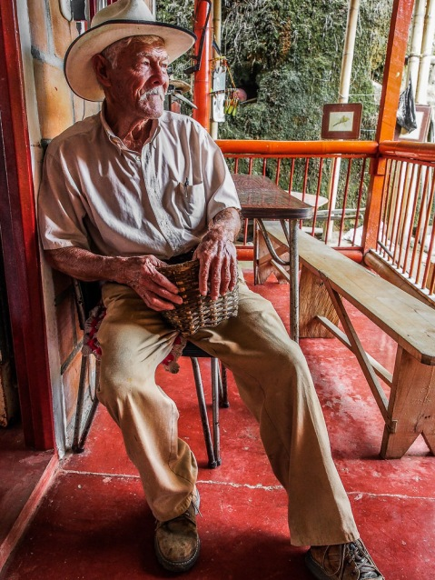 This man has been farming coffee his whole life, but still talks about it with endearing passion to every tourist who passes through.